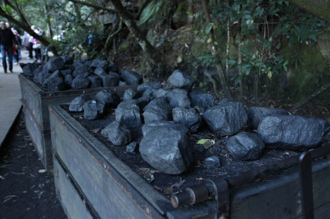 Coal. The railway was originally created to move coal miners up and down to work