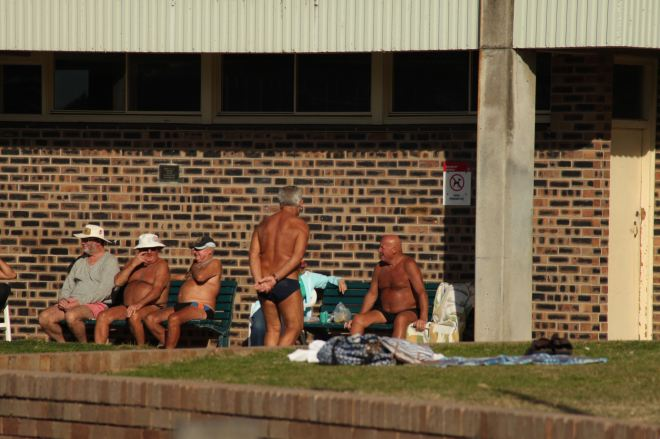 Leathery old men from the Bondi Icebergs