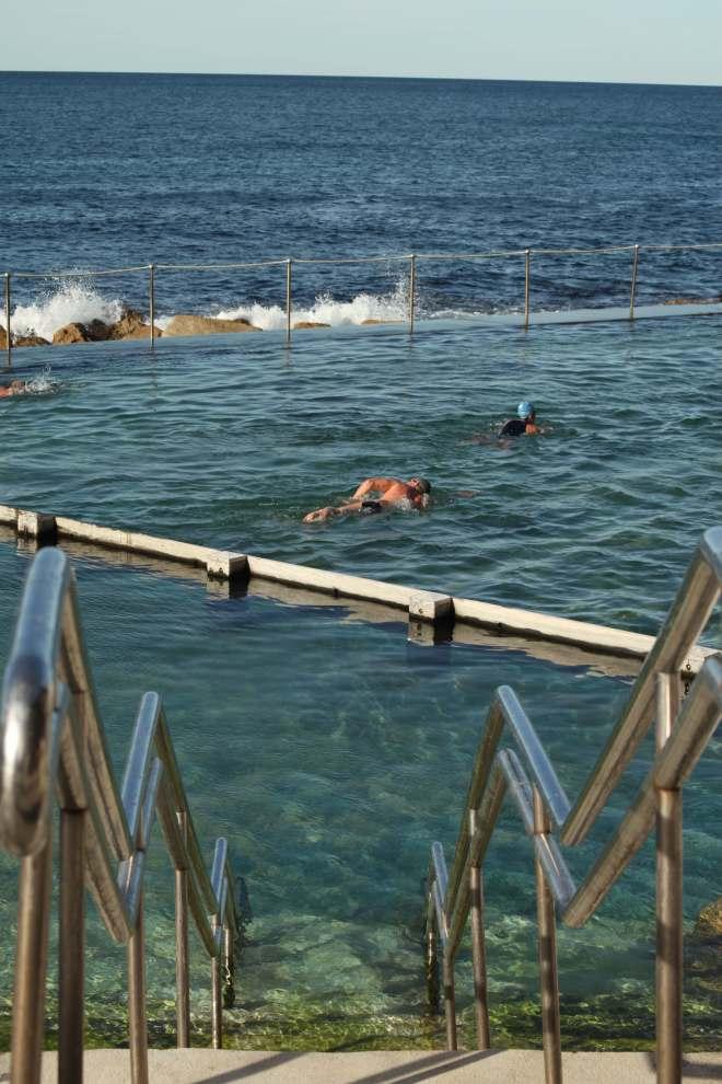 Ocean swimming pool