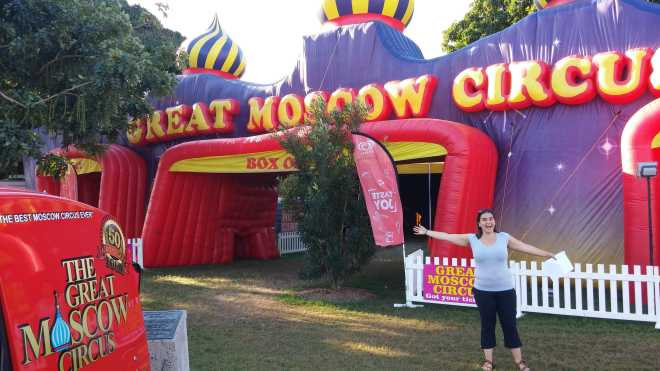 The Great Moscow Circus tent in the middle of tropical Cairns