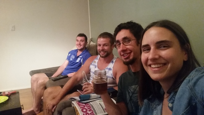 Couchsurfing in Cairns (Levi is second from the left)