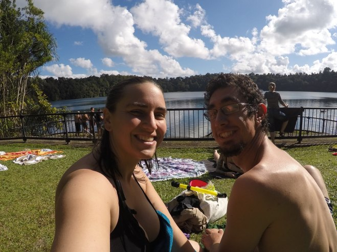 Lake Eacham swimming