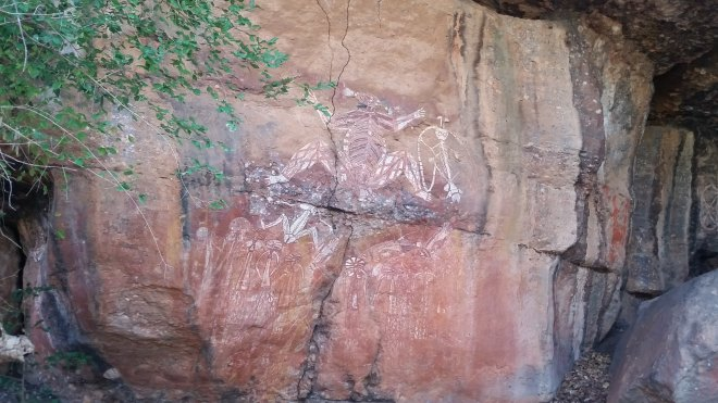 Ancient rock art by aborigines