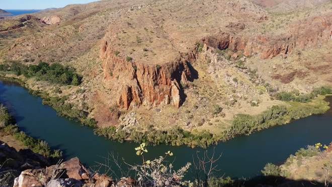 Ord River, the dam is just to the left