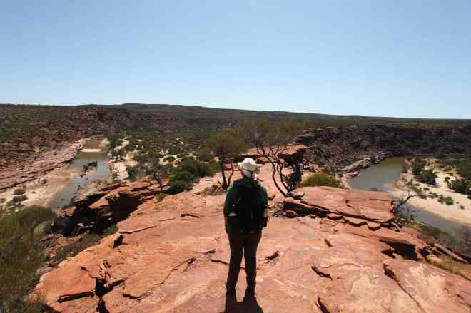 Christina looking out at the Murchison River