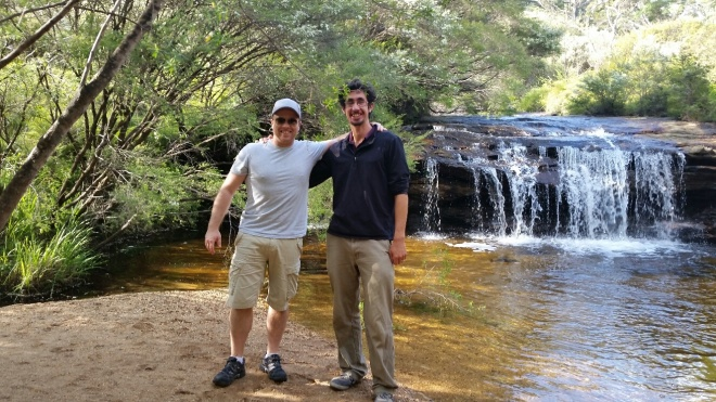 Fergus & Paul at Darwin's Falls