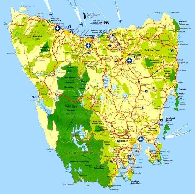 Map-of-Tasmania